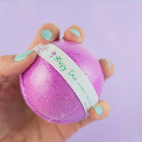 Leebrick - Sleepy Time (Lavender + Coconut Milk) Bath Bomb
