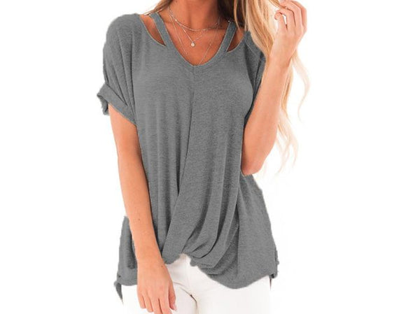 Asher & Emery - Grey Get Carried Away Top