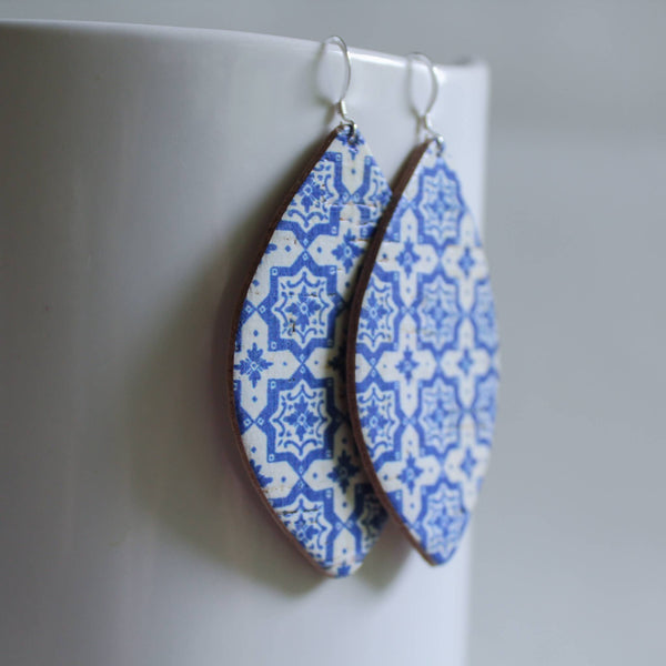 A New Grace - Grecian Tile Petal Earrings