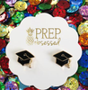 Prep Obsessed - Graduation Cap Signature Enamel Stud Earrings