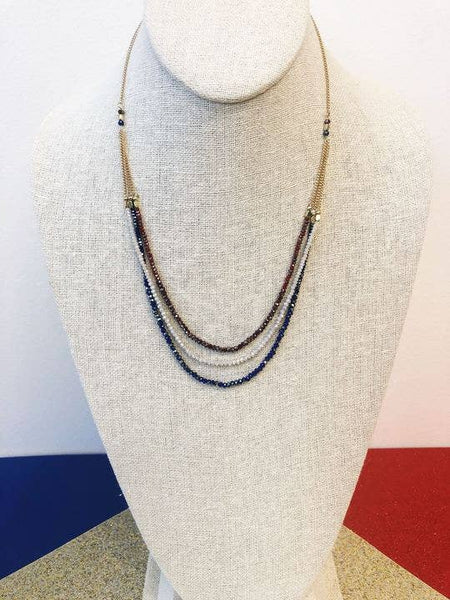 Americana Layered Sparkler Necklace
