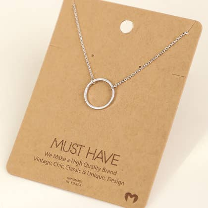 Fame Accessories - Ring Hoop Pendant Necklace