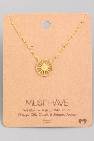 Fame Accessories - Small Sunshine Pendant Necklace