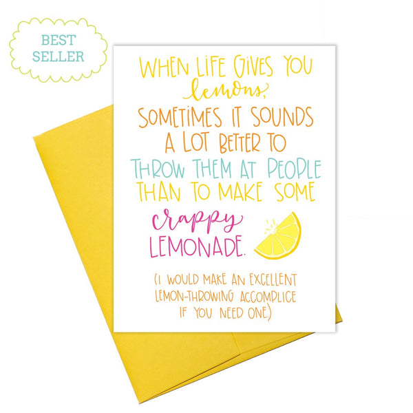 Colette Paperie - Throwing Lemons Card