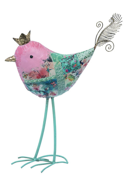 Transpac - Metal Multicolor Easter Royal Bird Statuette