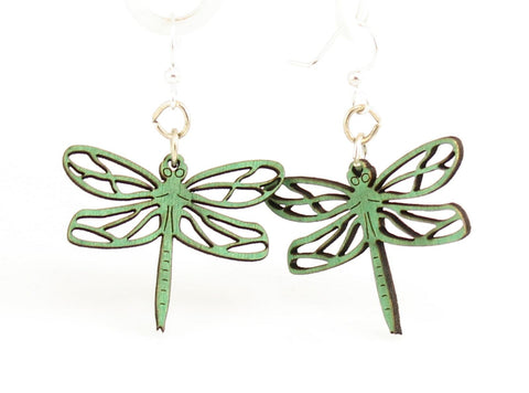 Green Tree Jewelry - Dragonfly Blossoms Earrings