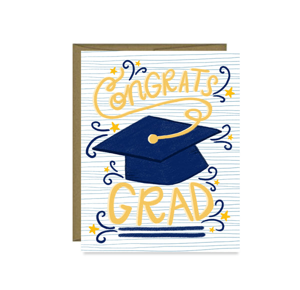 Pen & Paint - Congrats Grad, Graduation Card, High School, College