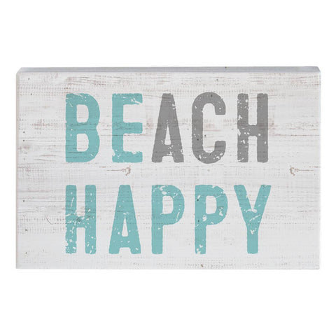 Beach Happy wood sign