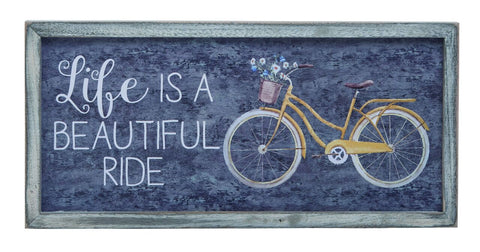 Transpac - Life is a Beautiful Ride Distressed Wall Art
