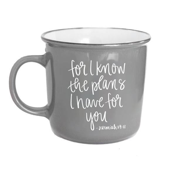 Sweet Water Decor - For I Know The Plans Jeremiah 29:11 Scripture Campfire Coffee Mug
