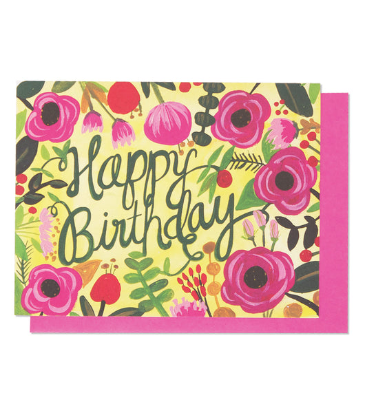 Thimblepress - Happy Birthday Floral Single Card