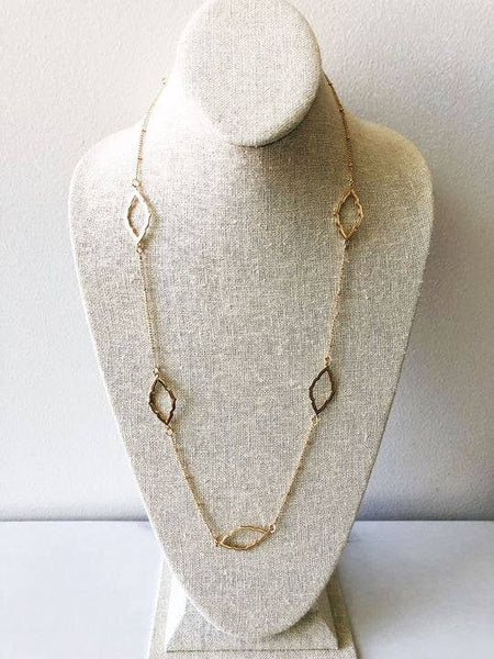 Brynn Long Station Necklace