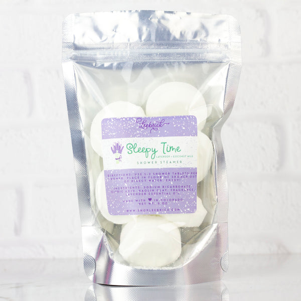 Leebrick - Shower Steamer- Sleepy Time (Lavender + coconut milk)