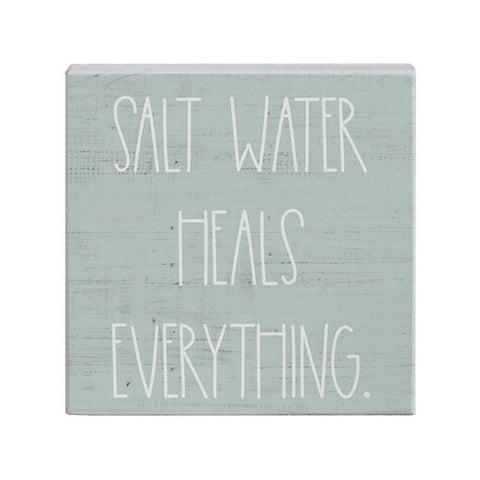 Salt Water heals everything