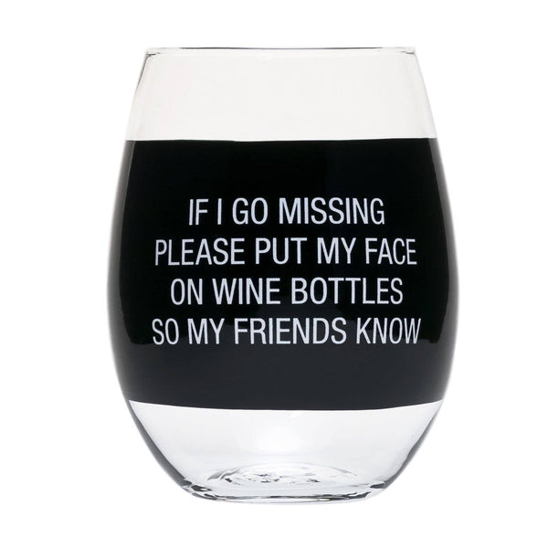 About Face Designs - My Face on Wine Bottles Wine Glass