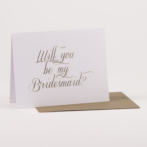 Will you be my Bridesmaid Notecard