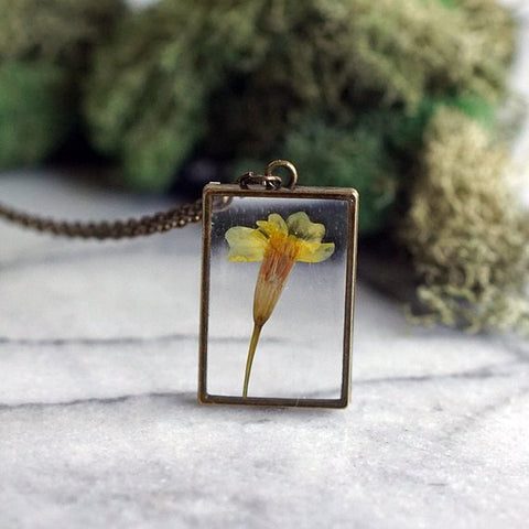 The Pretty Pickle - October Birth Flower Necklace