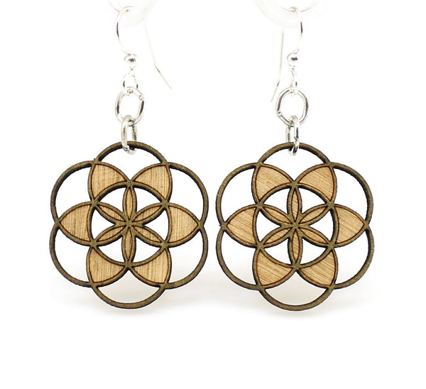 Green Tree Jewelry - Seed of Life Blossoms Earrings