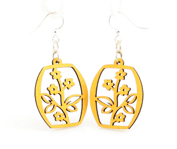 Green Tree Jewelry - Potted Flower Blossoms Earrings