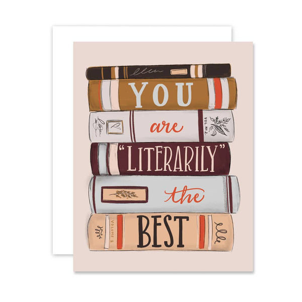 Lily & Val - Literarily The Best - A2 Note Card