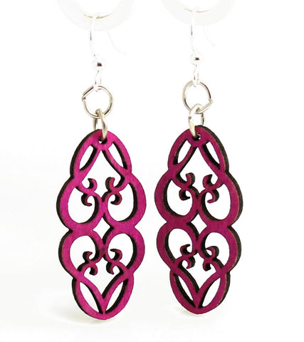 Green Tree Jewelry - Heart in Vines Blossoms Earrings