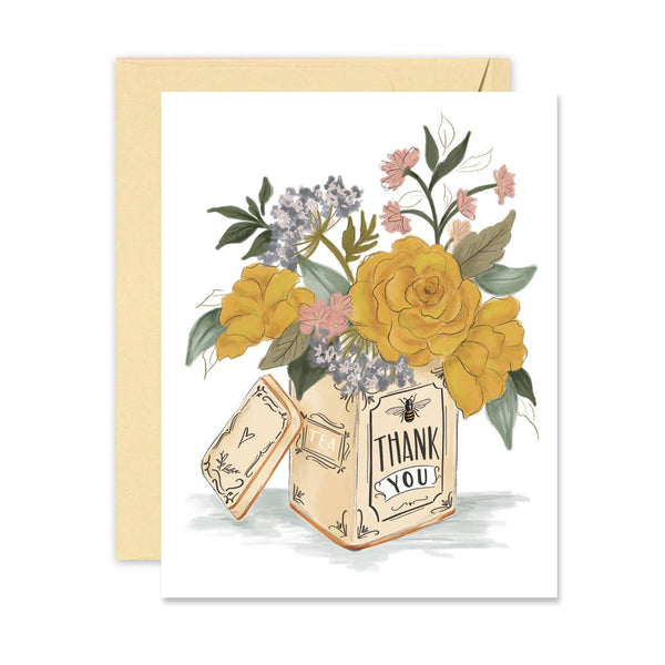 Lily & Val - Thank You Tea Tin - A2 Note Card