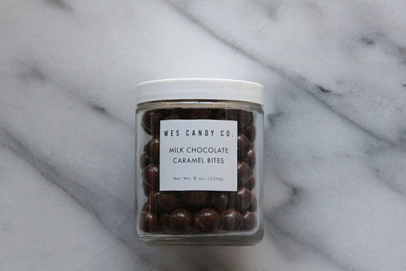 Wes Candy Co. - Milk Chocolate Covered Caramel Bites (8 oz.)