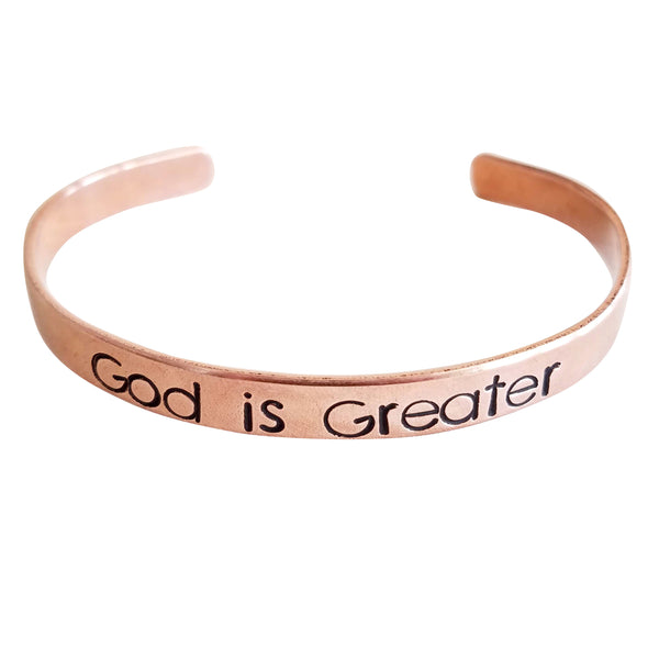 Expressions Bracelets - God is Greater Mantra Cuff
