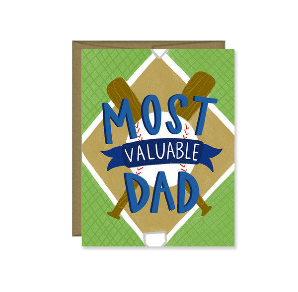 Pen & Paint - Most Valuable Dad, Father's Day Card, Happy Father's Day