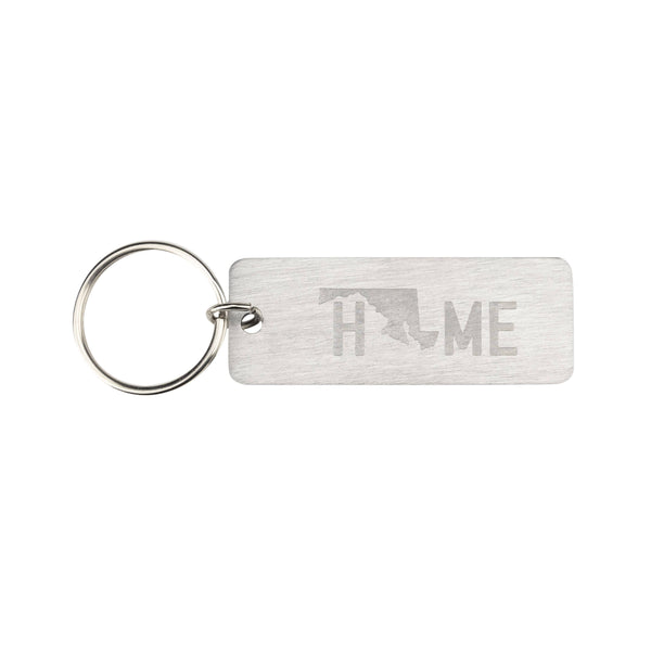 About Face Designs - Maryland Metal Keychain