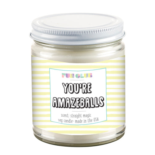 Fun Club - You're Amazeballs Candle