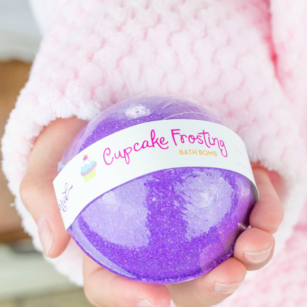 Leebrick - Cupcake Frosting colorful floating spinning Bath Bomb
