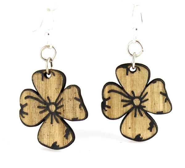 Green Tree Jewelry - Dogwood Flower Earrings