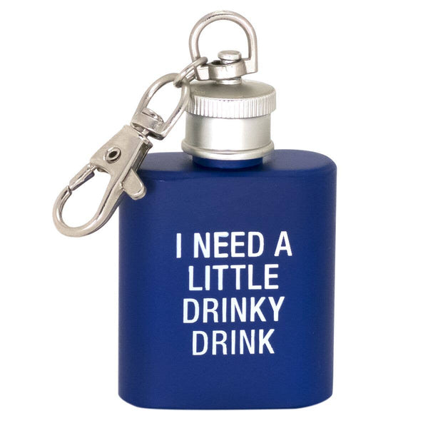 About Face Designs - I Need a Little Drinky Drink Key Ring Flask
