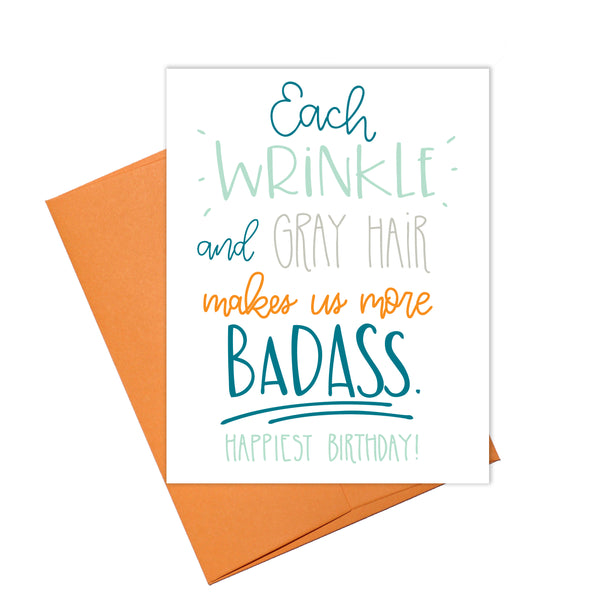 Colette Paperie - Wrinkle & Gray Hair is Badass Card