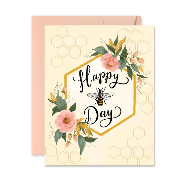 Lily & Val - Happy Bee-Day - A2 Note Card
