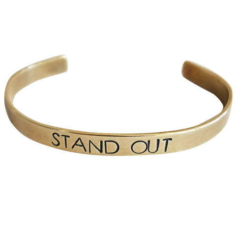 Expressions Bracelets - Stand Out Mantra Cuff