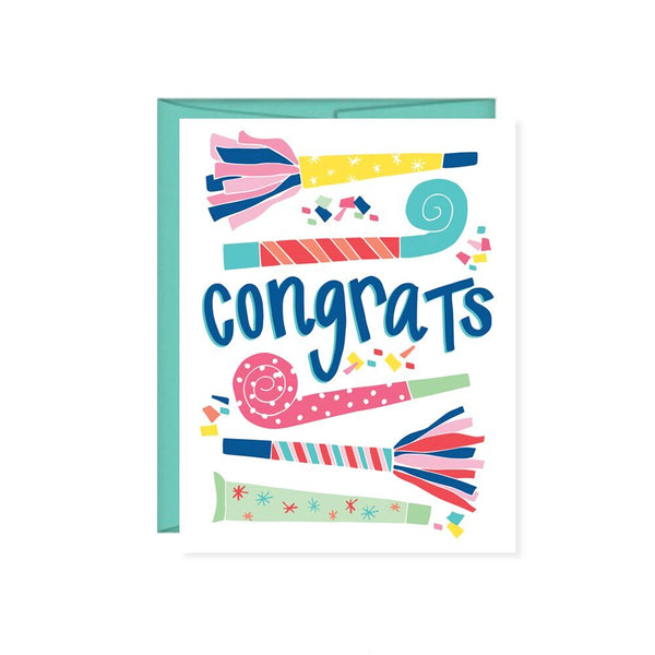 Pen & Paint - Congrats Noisemakers Card