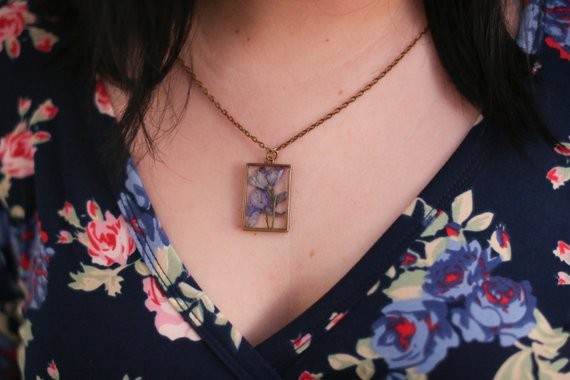 The Pretty Pickle - February Birth Flower Necklace