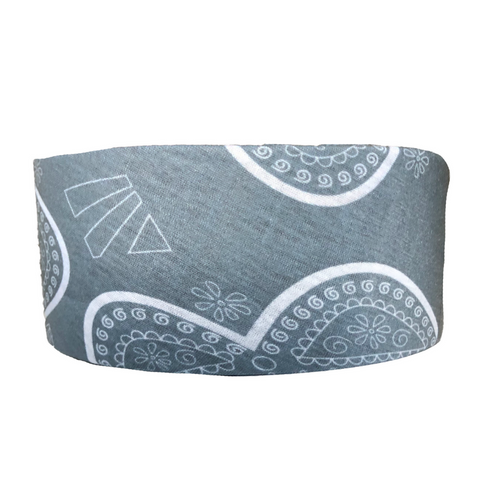 Headbands of Hope - Tube Turban Grey Wildflower