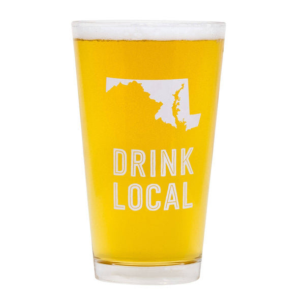 About Face Designs - Maryland Pint Glass