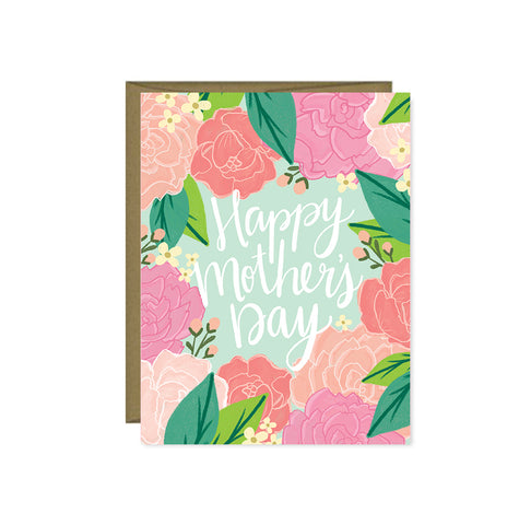 Pen & Paint - Happy Mother's Day Pink Peonies