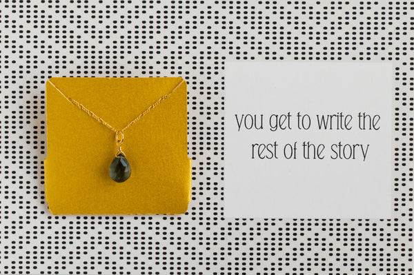 Ruthie and Olive | 3 meals donated for every necklace - Write The Story - Gemstone Necklace
