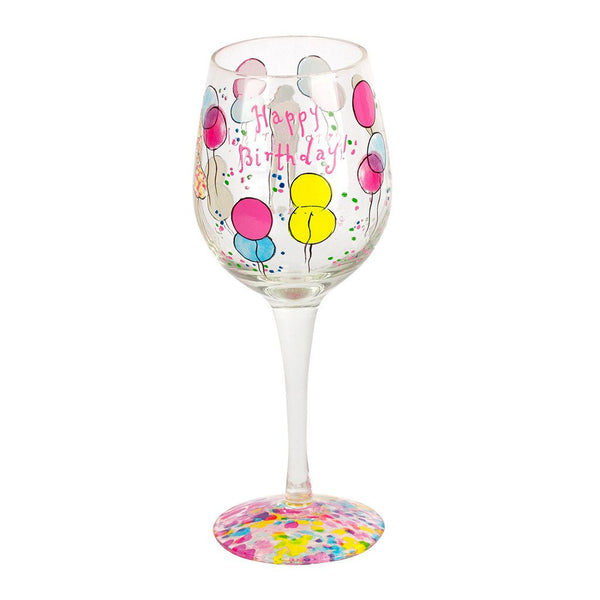 Lilly Pulitzer® Hand-Painted Wine Glass
