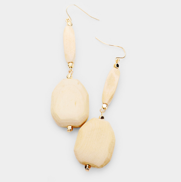 Bailey Natural Wood Earrings