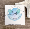 Lani Makana - Aqua Sea Glass Stud Earrings (Stainless Steel)
