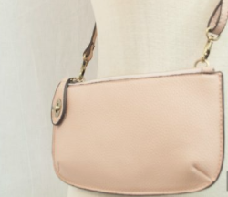 Mini Crossbody Wristlet Clutch- Soft Pink