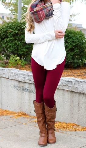 Burgundy LUSH Leggings