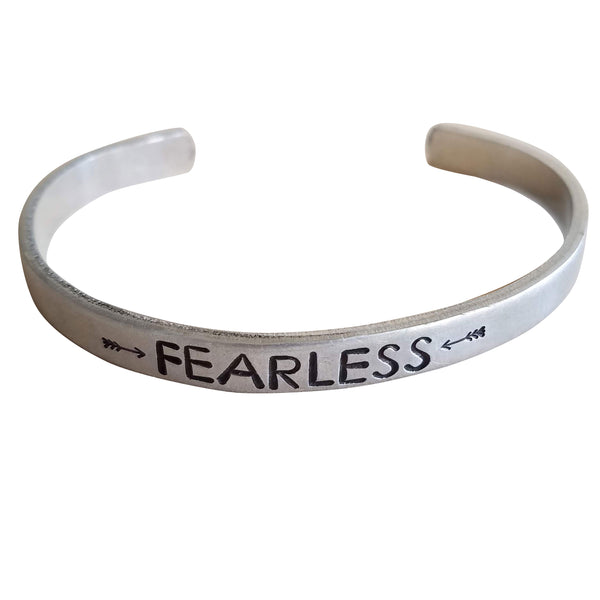 Expressions Bracelets - Fearless Arrow Mantra Cuff