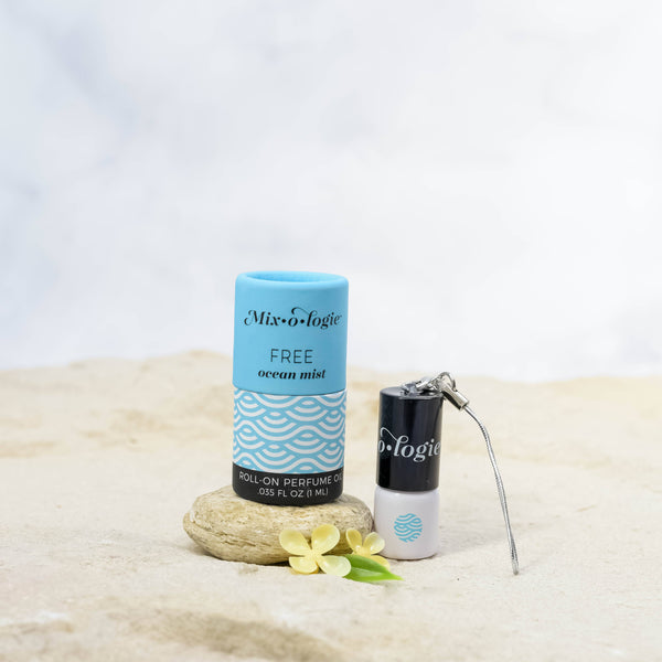 Free (Ocean Mist) Mini Roll-On Perfume Keychain (1 mL)